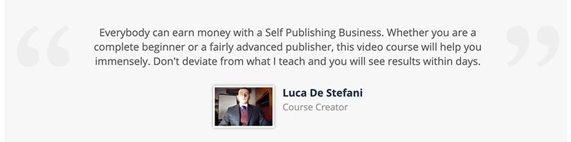 Luca De Stefani - Self Publishing Revolution