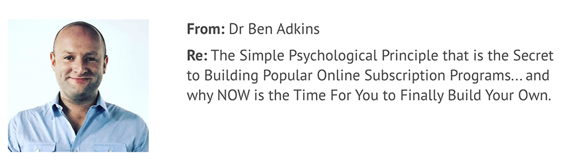 Ben Adkins Subscription