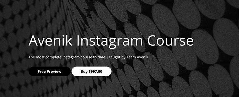 Download Avenik Instagram Course