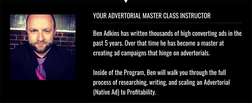 Download For Free Advertorial Master Class