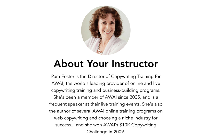 Pam Foster - Direct Response Copywriting Course Download