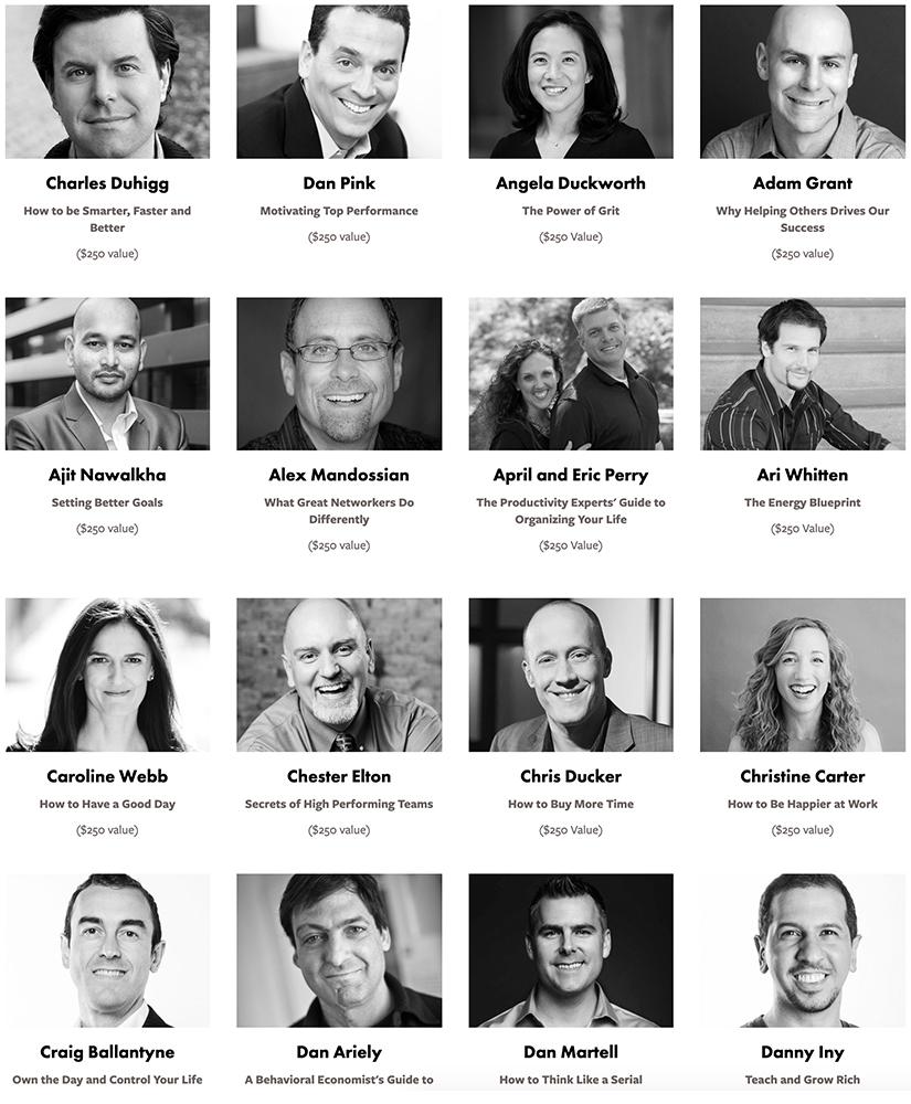 Peak Work Performance Summit Speakers