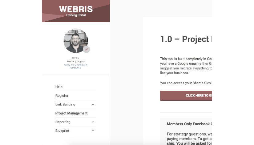 Ryan Stewart - Webris Project Management System