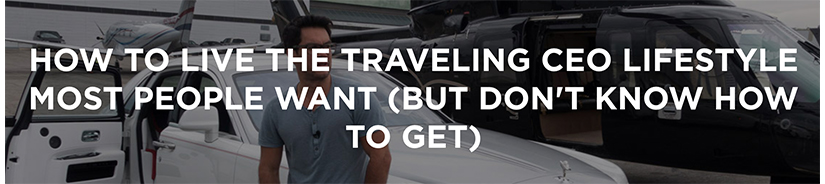 Tai Lopez - Traveling CEO Program