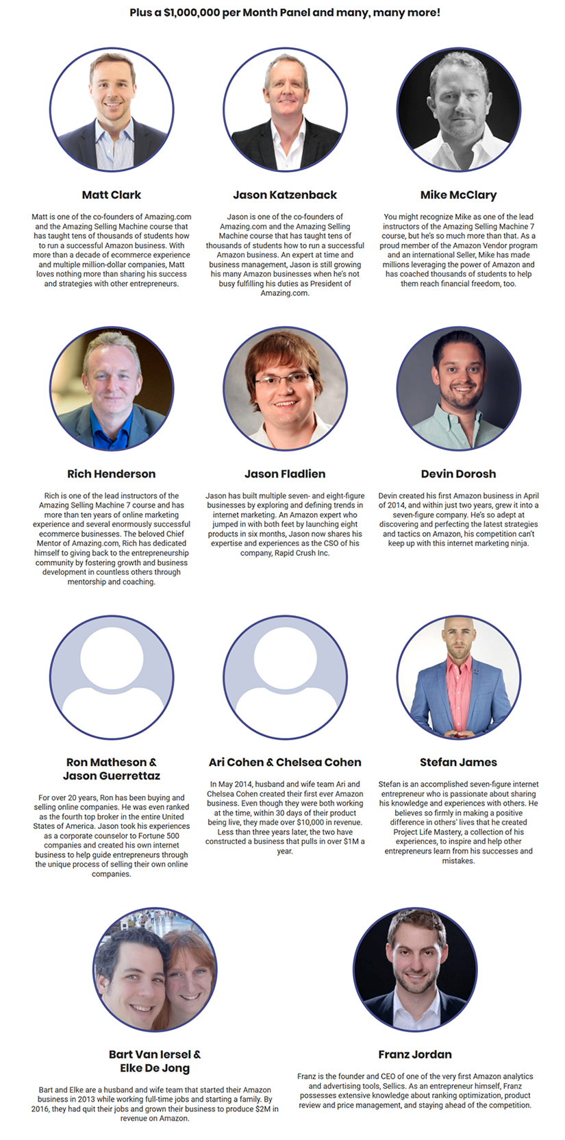 The 2017 Amazing Seller Summit Speakers Download