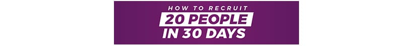 How To Recruit 20 People In 30 Days Download