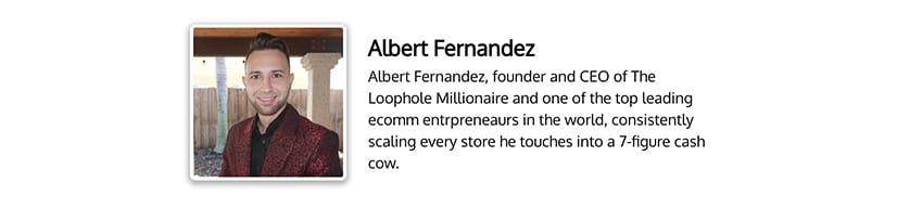 Albert Fernandez - The Loophole Millionaire Program