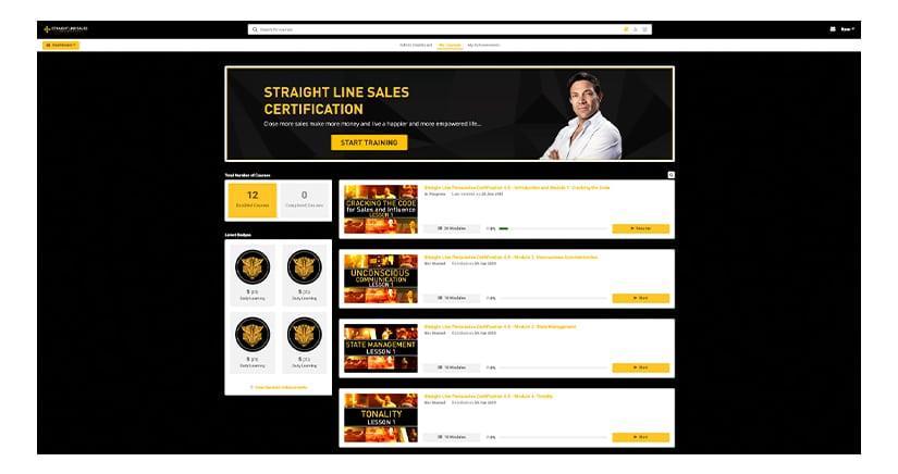 Straight Line Sales Cert 4 Download